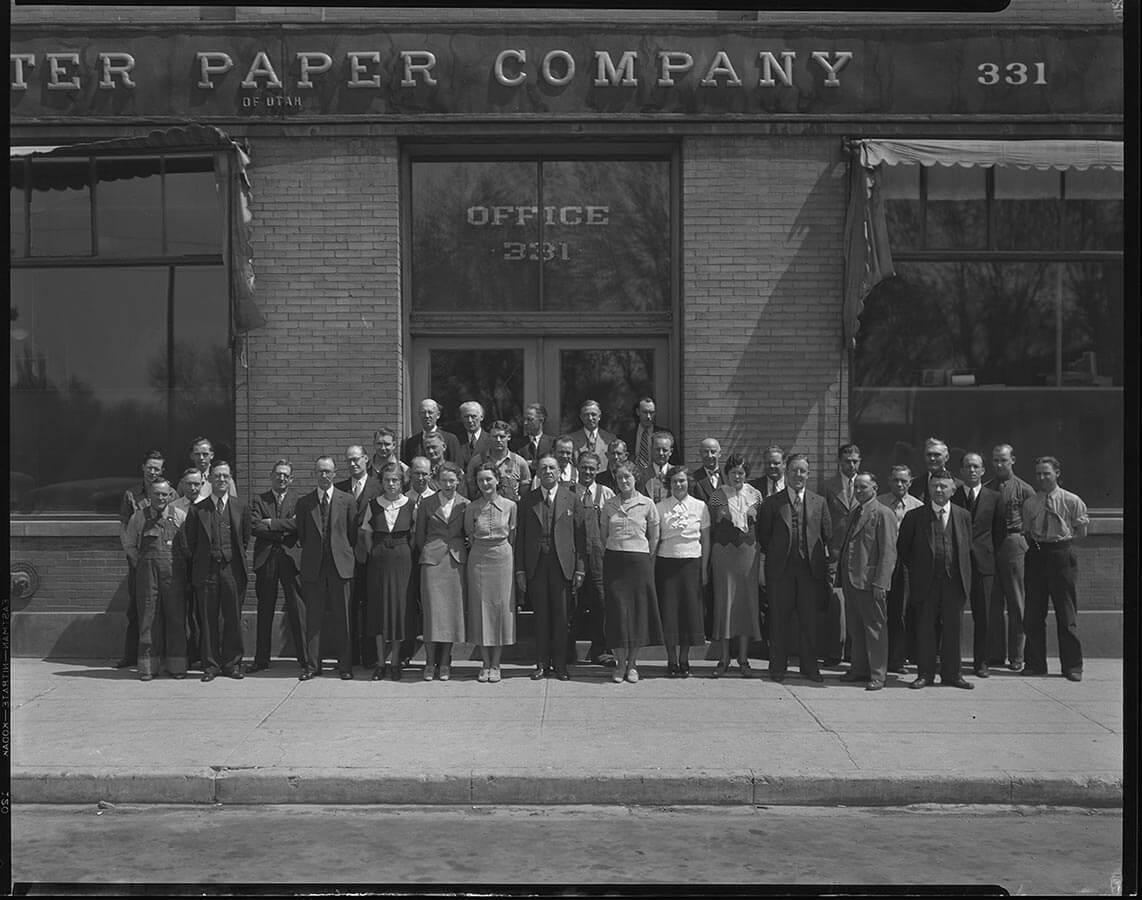 Carpenter Paper Company Group Outside of Office 1927