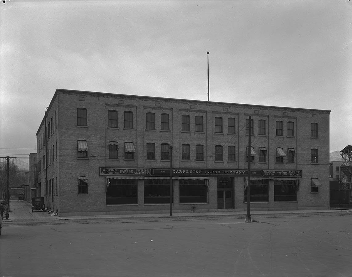 Carpenter Paper Company Building Looking Southeast 1927