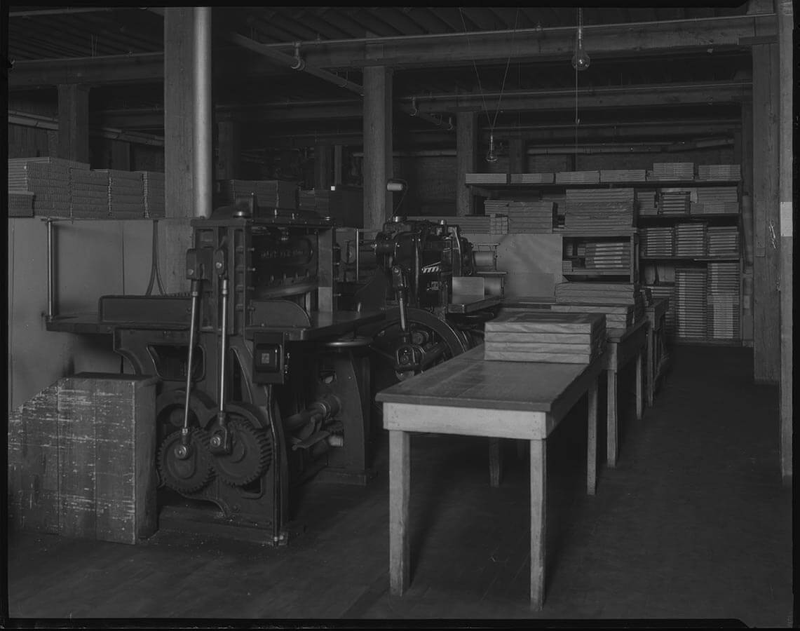 Carpenter Paper Company Cutting Machine 1936